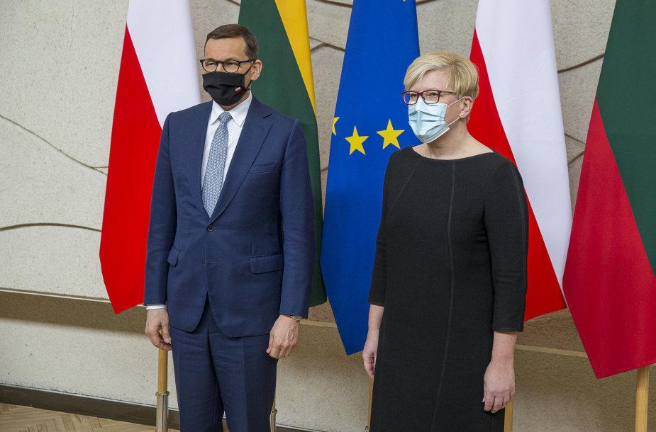 Lietuvoje su darbo vizitu vieši Lenkijos premjeras M.Morawieckis