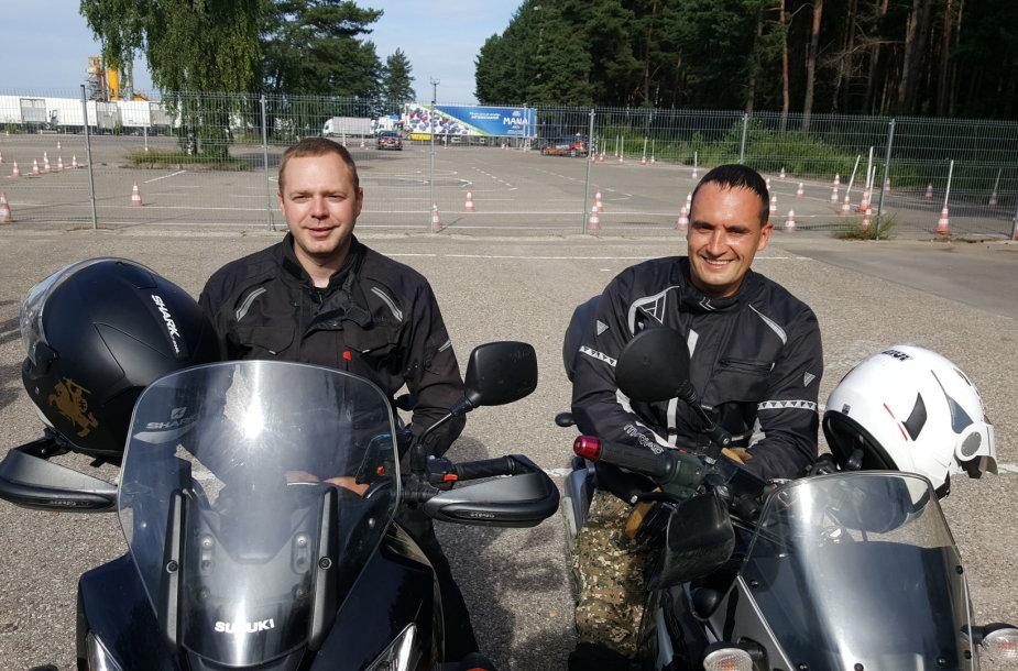 """""""Mototurizmo ralio"""" daugkartiniai dalyviai, šių metų renginio ambasadoriai – Mindaugas Kazlauskas ir Henrikas Pupelis."""