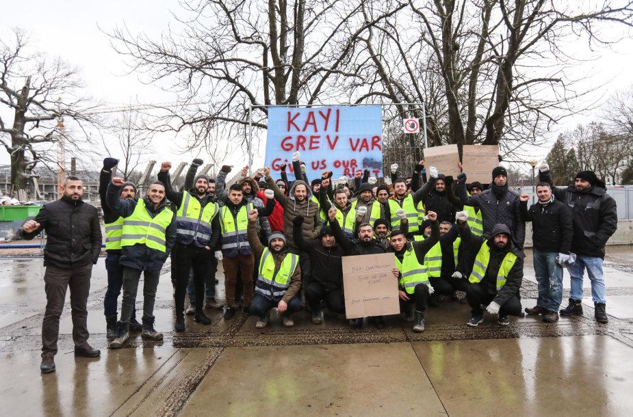Turkų darbininkų streikas