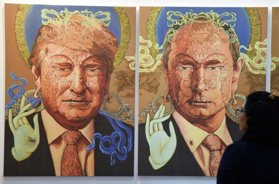 D.Trumpo ir V.Putino piešinys Nepale.