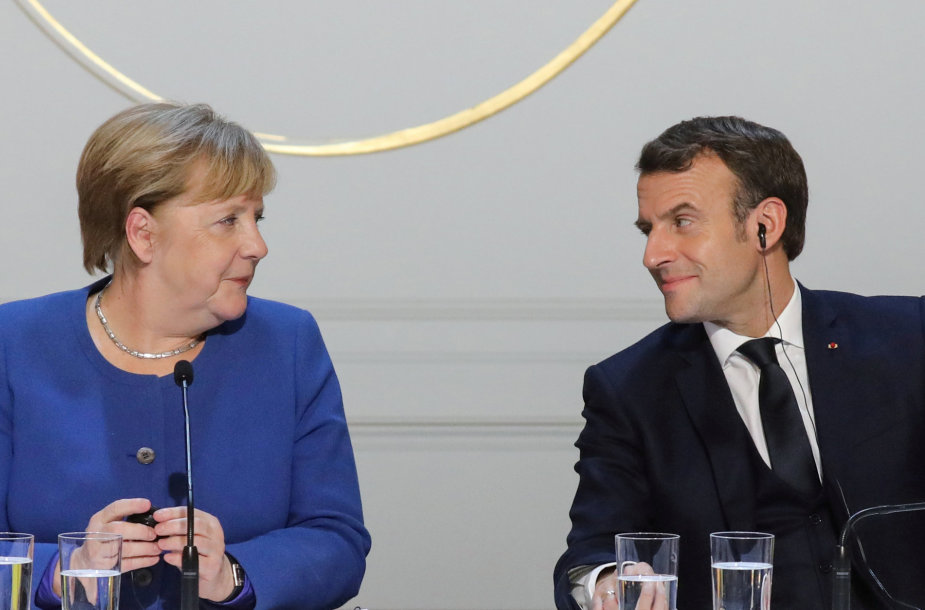 Angela Merkel ir Emmanuelis Macronas