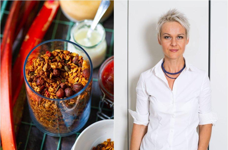 Nida Degutienė ir jos gaminta granola