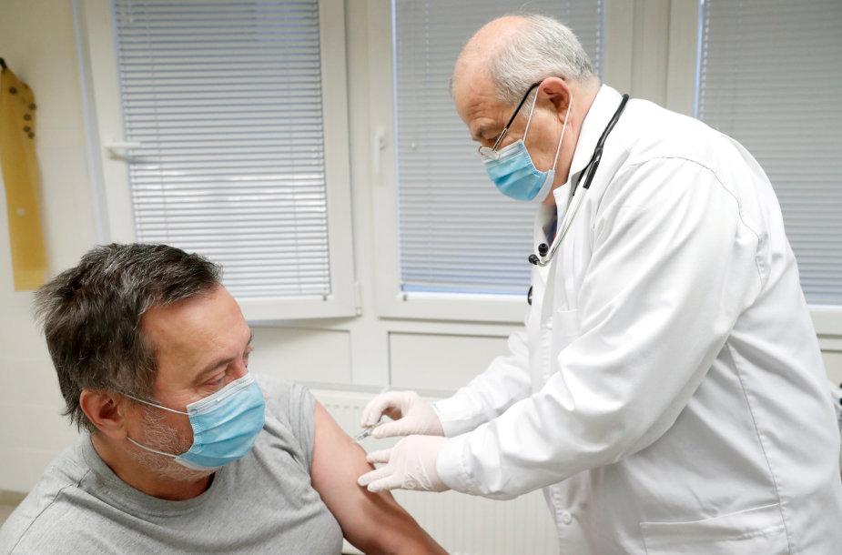 Skiepijimas nuo koronaviruso Vengrijoje
