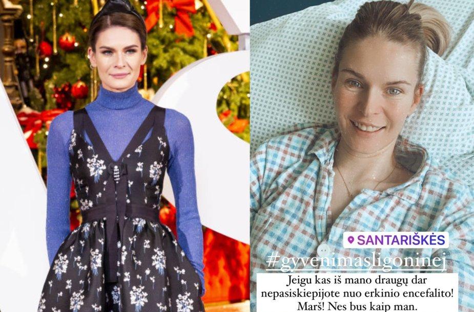 Erkiniu encefalitu užsikrėtusi Austėja Jablonskytė atsidūrė ligoninėje: