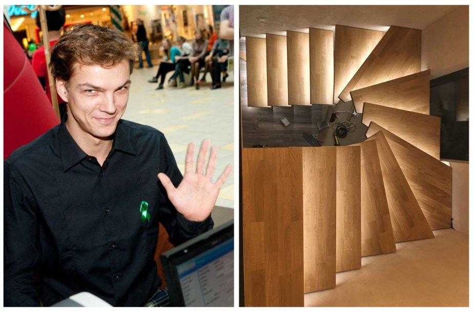 Algirdas Grudinskis-Grūdas ir jo gaminti laiptai