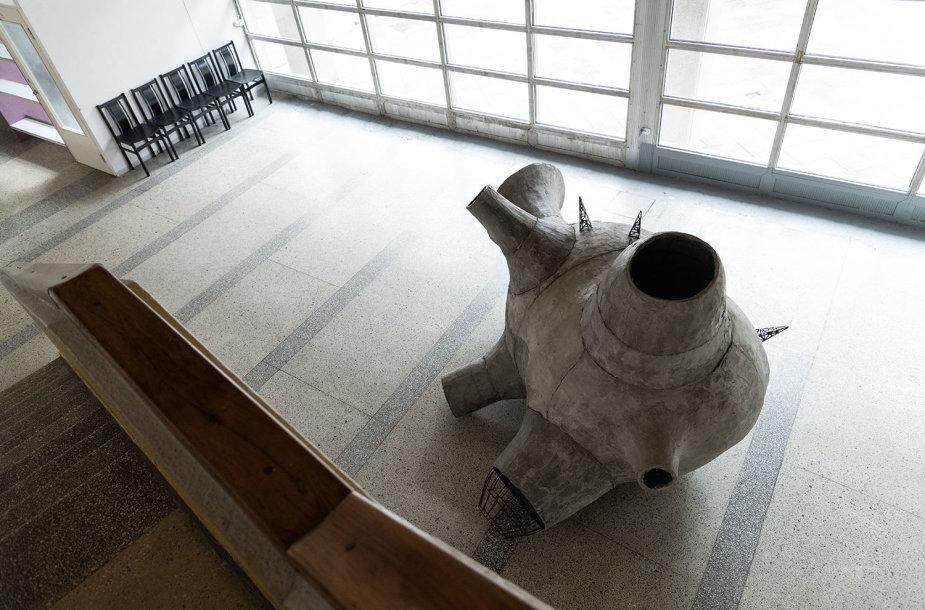 Tauro Kensmino parodos Vilniaus universiteto planetariume fragmentas