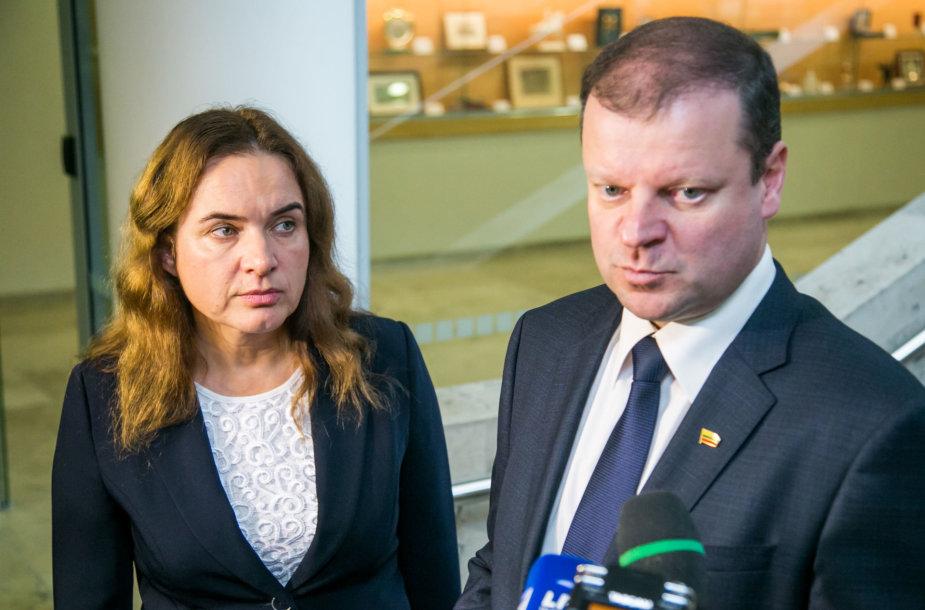 Milda Vainiutė ir Saulius Skvernelis