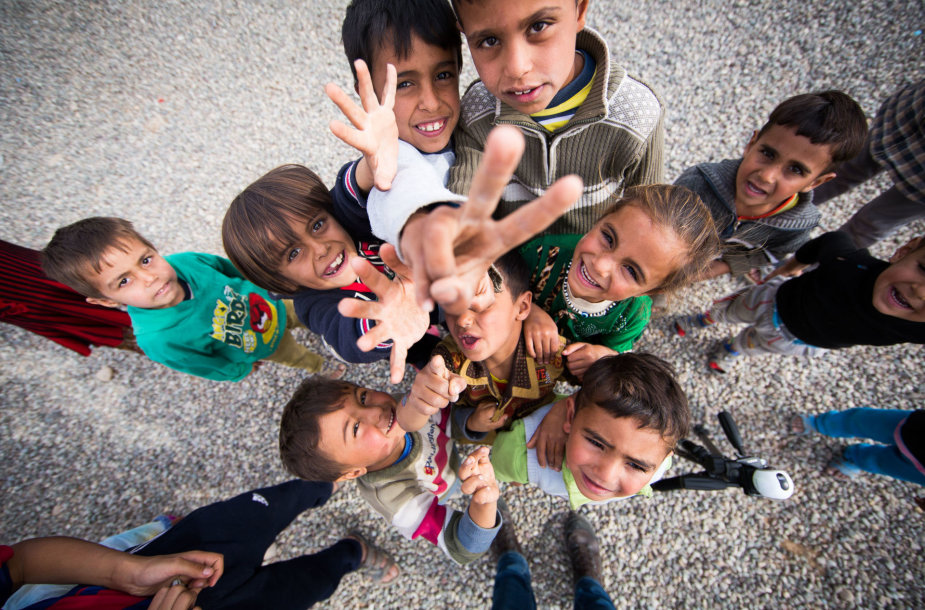 Stovykloje Hassan Sham karaliauja vaikai