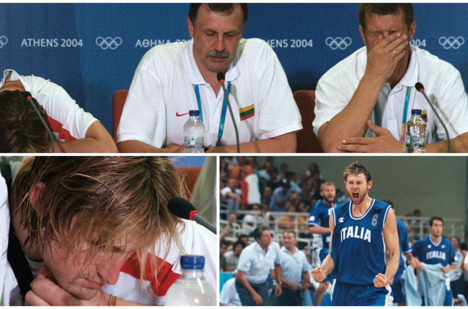 Skaudus pralaimėjimas Atėnuose (2004): Lietuva - Italija