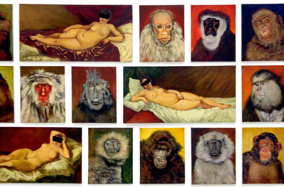 Audras sukėlęs Prano Griušio paveikslas