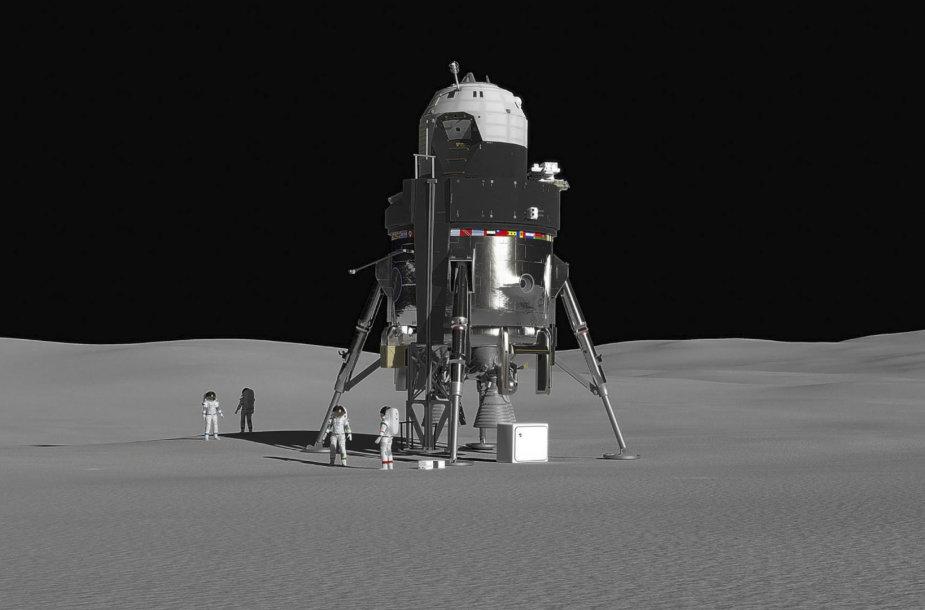 """""""Lockheed Martin"""" nusileidimo Mėnulyje modulio konceptas"""
