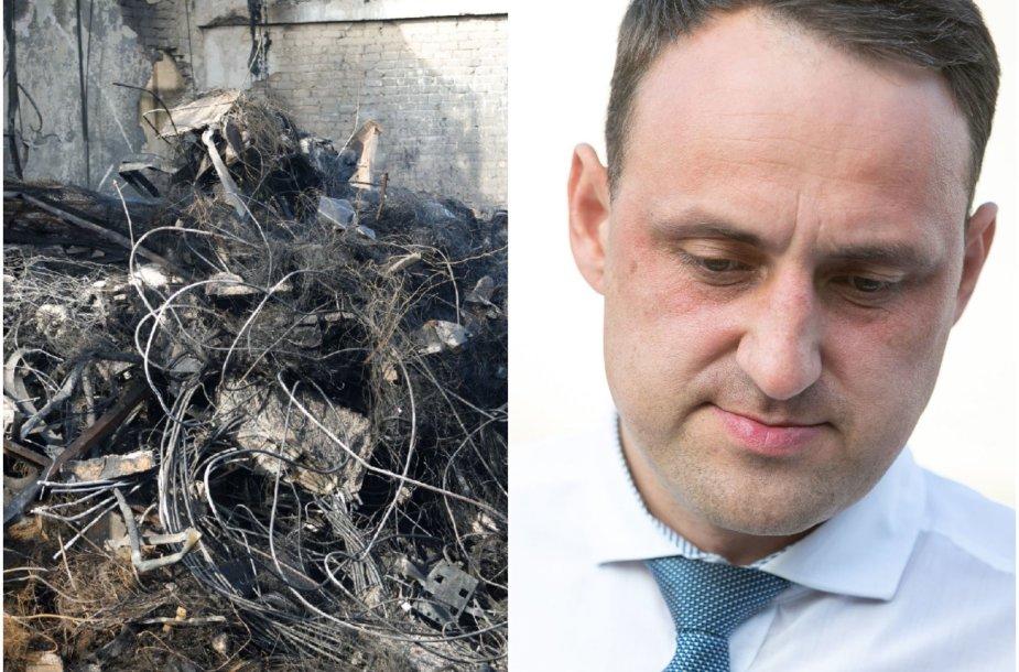 N.Cesiulis stebisi, kad užgesinus gaisrą jo padarinių likviduoti dar nepradėta.