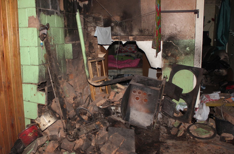 Angirių kaimo nuosavame name sprogo katilas