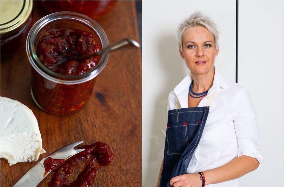 Nida Degutienė ir jos virtas pomidorų džemas