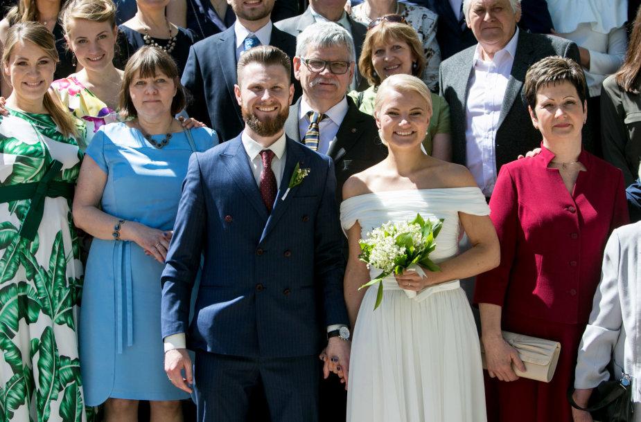 Andriaus Palionio ir Rūtos Stasiulytės vestuvių akimirka
