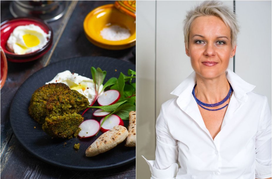 Nida Degutienė ir jos gaminti sveikesni falafeliai