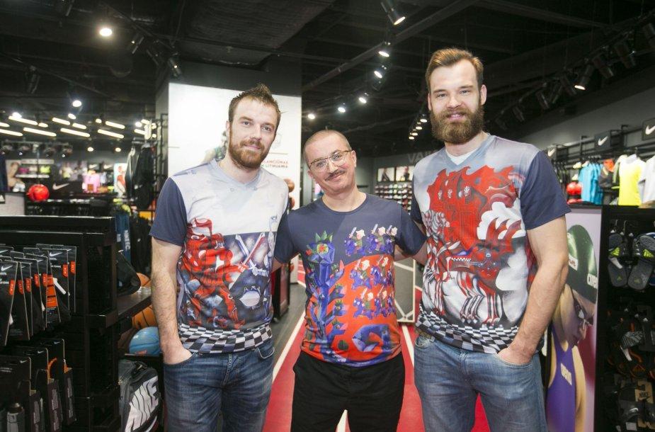 Martynas Gecevičius, Aleksandras Pogrebnojus ir Antanas Kavaliauskas