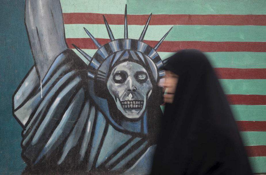 Piešinys Teherano gatvėje