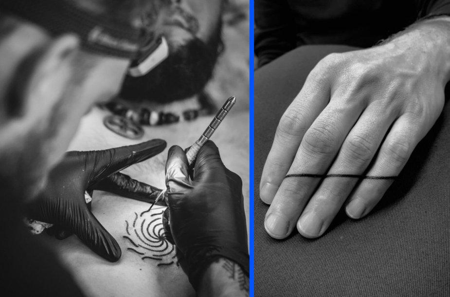 """Tatuiruočių meistras """"Juodi dygsniai"""", Gediminas Zubas"""