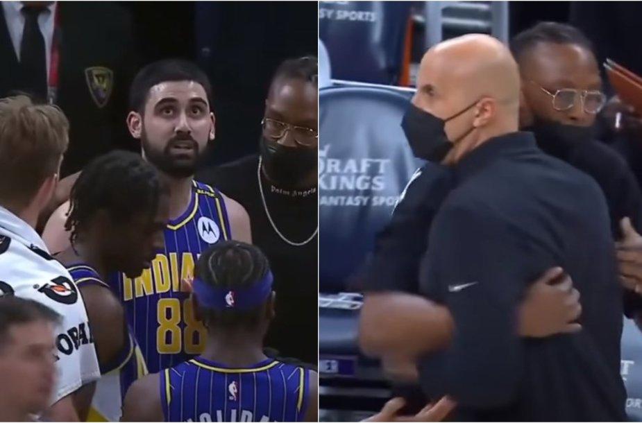 """Rungtynių metu kilo konfliktas """"Pacers"""" komandoje"""