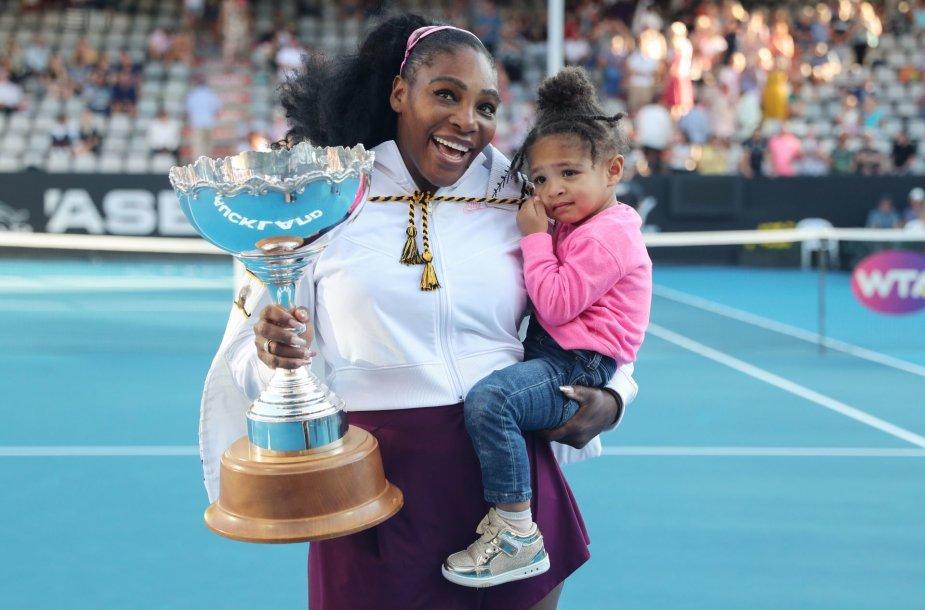 Serena Williams ir dukrytė Alexis Olympia