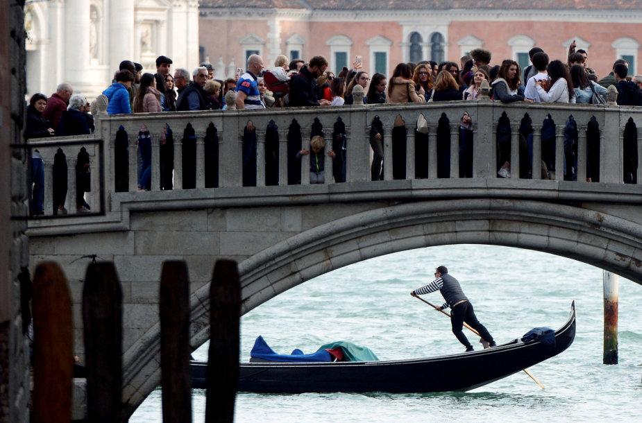 Turistai Venecijoje