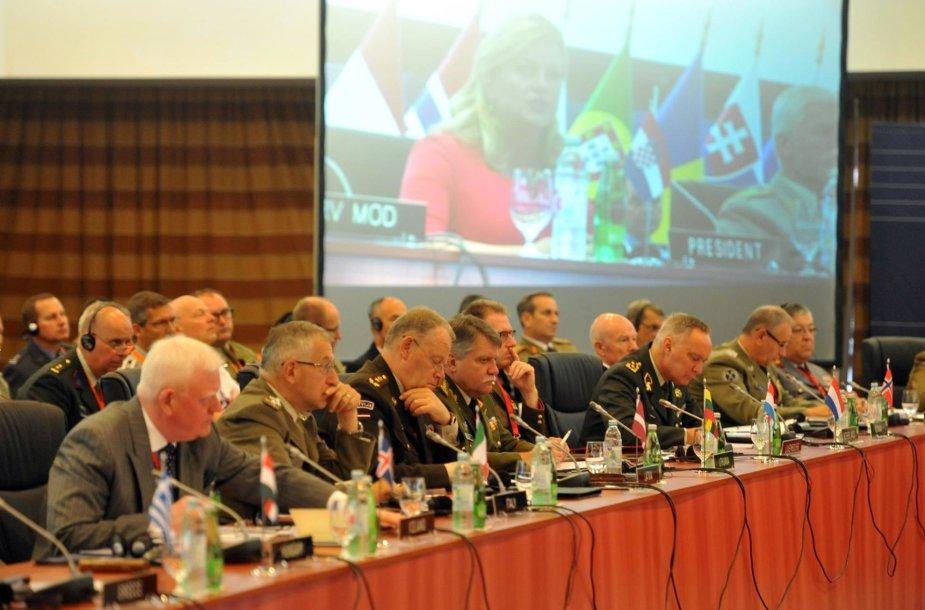 Jonas Vytautas Žukas (centre) dalyvavo NATO karinio komiteto išvažiuojamoje konferencijoje Kroatijoje.