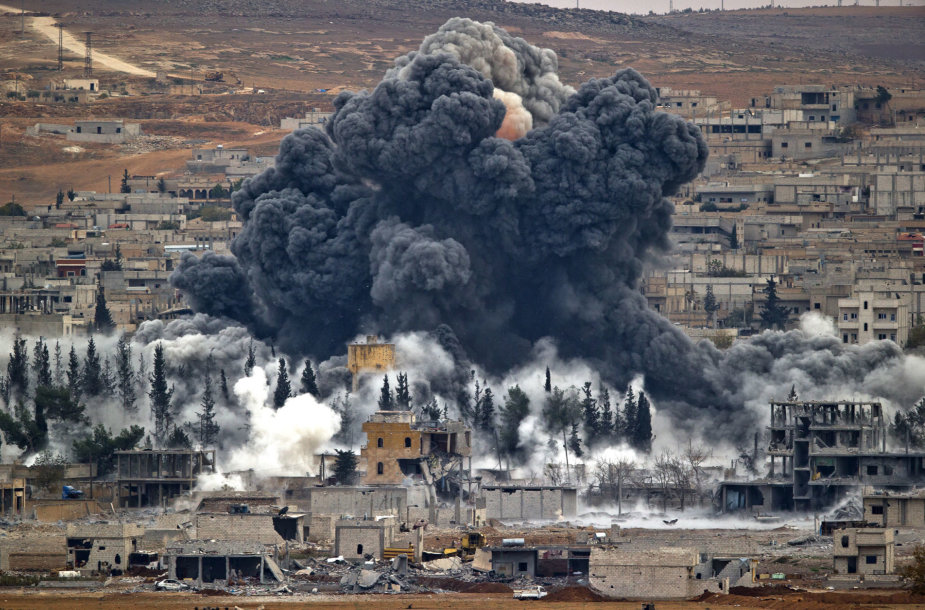 Oro smūgis Sirijoje.