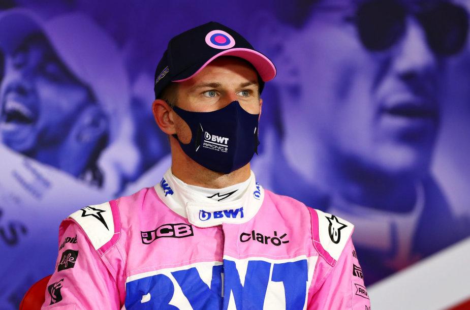 """""""Formulės 1"""" 70-mečio GP lenktynes Silerstouno trasoje, Nico Hulkenbergas"""