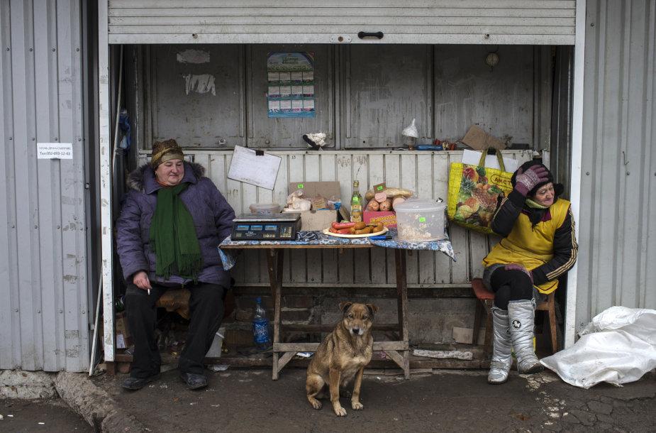 Gyventojų šuo sugriautame Popasnos mieste