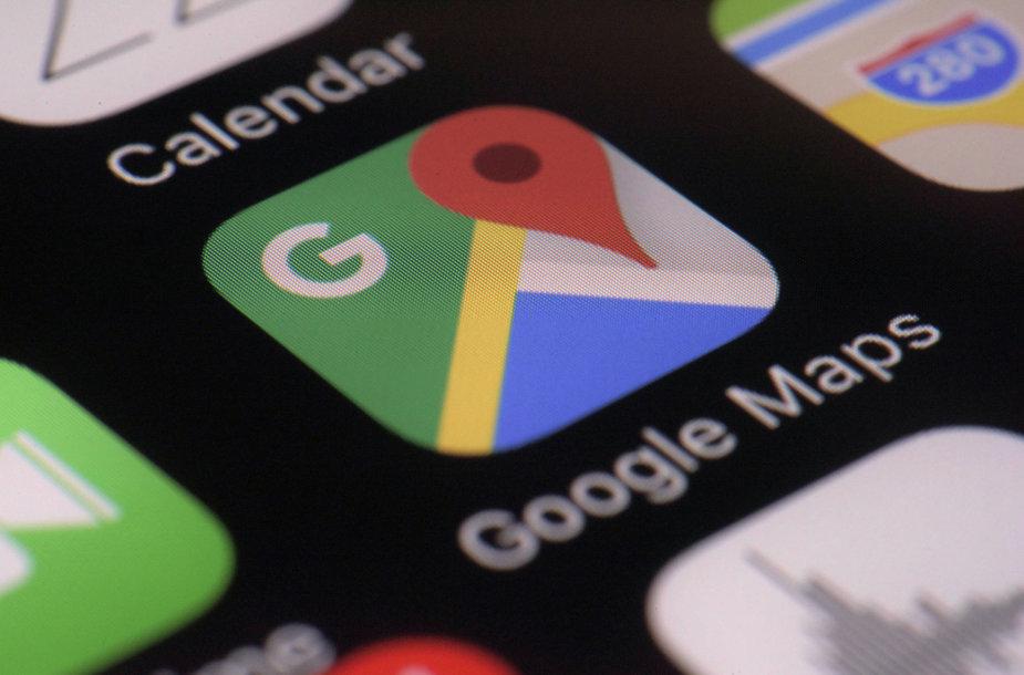 """Google Maps"" programėlė"