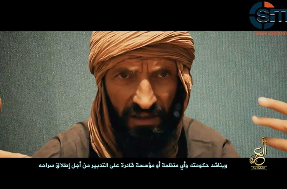 """Kadras iš """"Al-Qaeda"""" išplatinto vaizdo įrašo"""