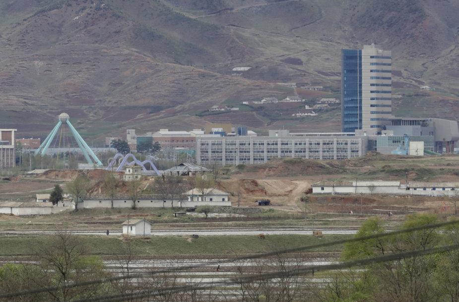 Pramoninė zona Šiaurės Korėjos Kesongo mieste