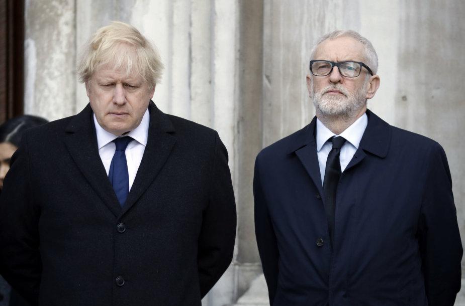 Borisas Johnsonas ir Jeremy Corbynas