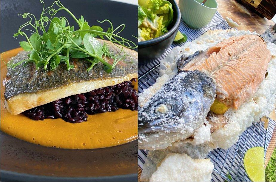 Vasariškų žuvies patiekalų duetas savaitgaliui