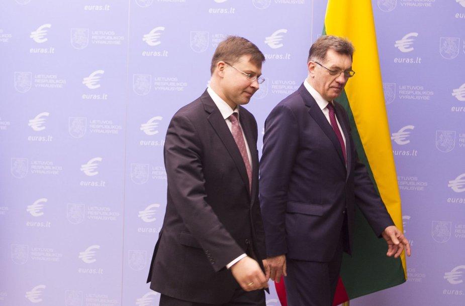 Valdis Dombrovskis ir Algirdas Butkevičius