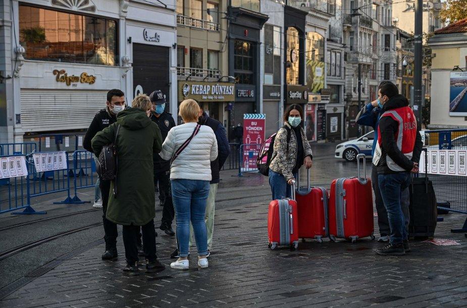 Gyvenimas Stambule sugriežtinus karantiną