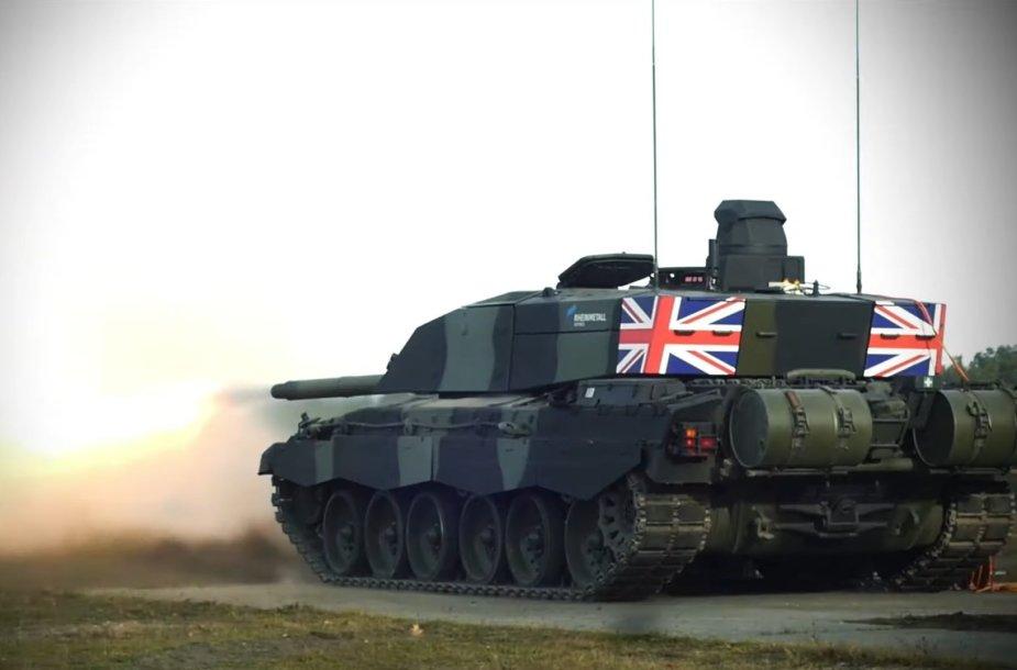 """Britų tanko atnaujinimo """"Challenger 2"""" prototipas"""