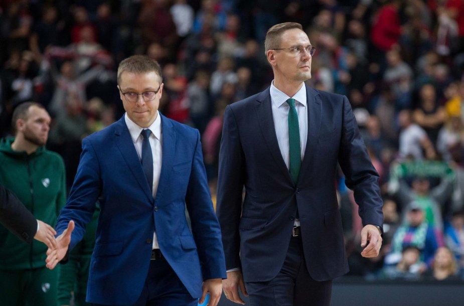 Paulius Motiejūnas ir Robertas Javtokas