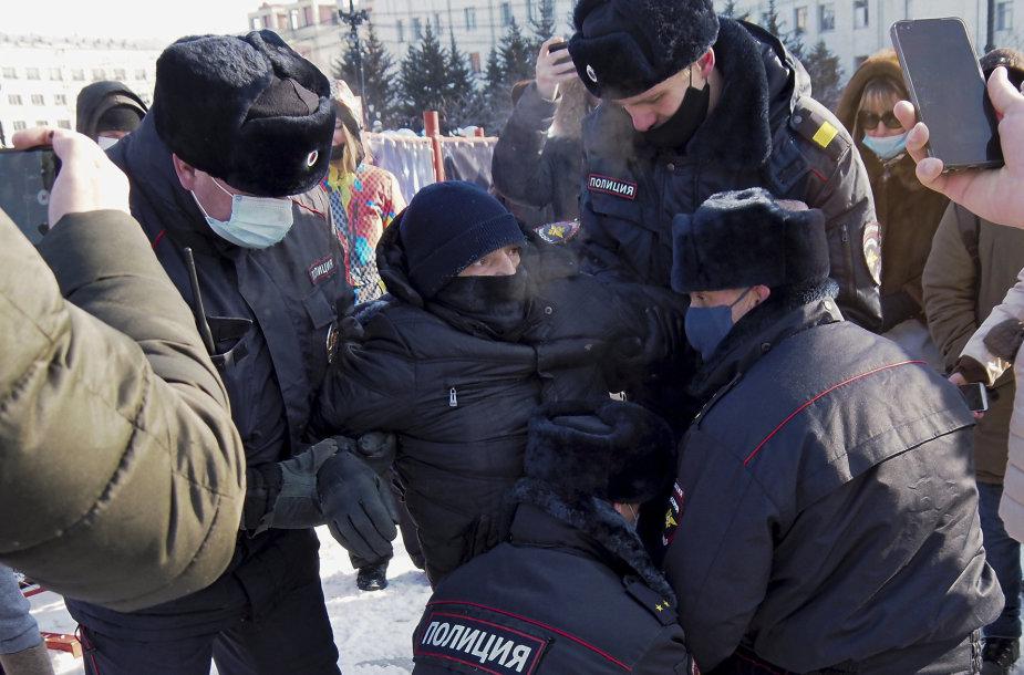 Rusijoje vyksta masiniai protestai