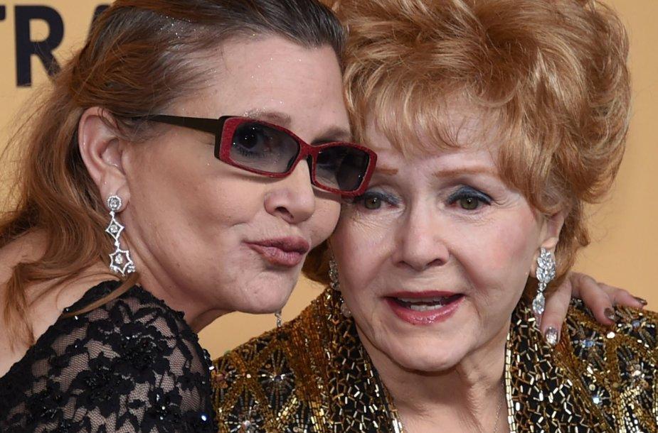 Carrie Fisher ir Debbie Reynolds (2015 m. sausis)