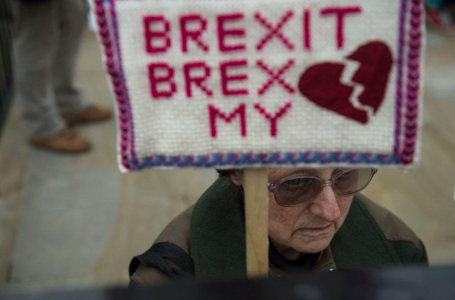 """Protestas prie """"Brexit"""""""