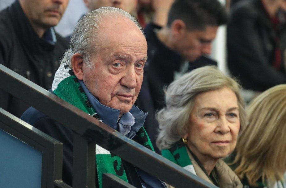 Buvęs Ispanijos karalius Juanas Carlosas ir karalienė Sofia