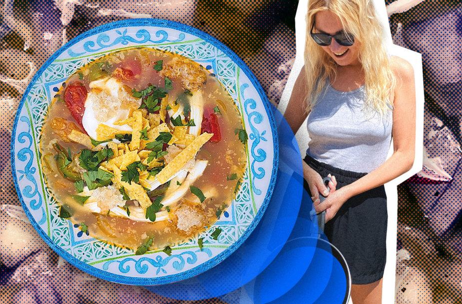 """Karantino kuchnia"": actekų sriuba"