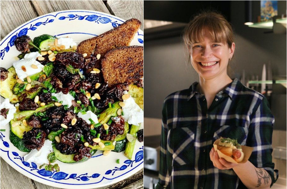 Tinklaraštininkė Laura ir jos ruoštos salotos su bobausiais