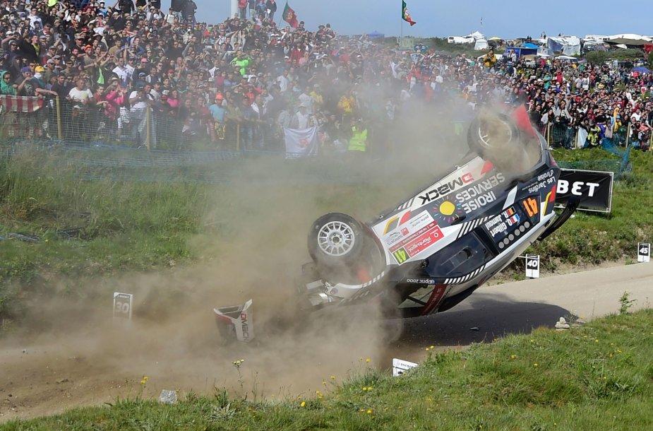 WRC Portugalijos ralis, Quentino Gilberto avarija