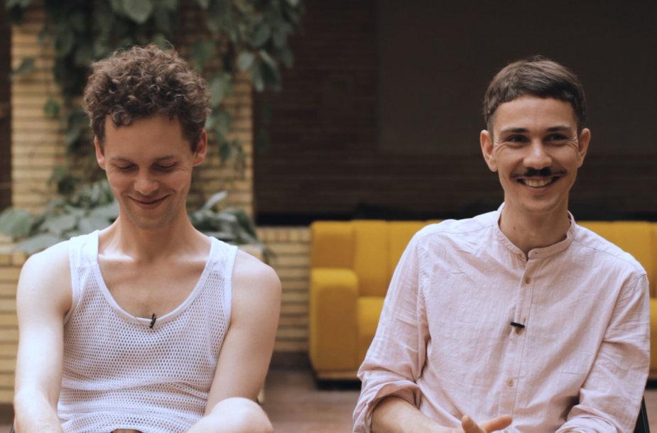 Jonas Narbutas (kaireje) ir Adomas Koreniukas