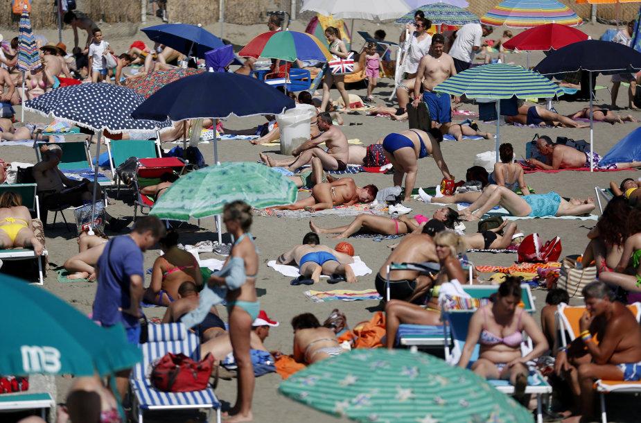 Paplūdimys Italijoje