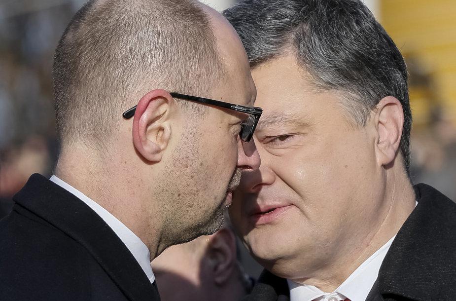 Arsenijus Jaceniukas ir Petro Porošenka