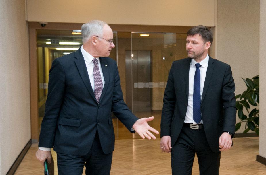 Andrius Navickas ir Algirdas Monkevičius